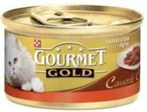 ΚΟΝΣΕΡΒΑ ΓΑΤΑΣ GOURMET GOLD DOUBLE PLEASURE ΒΟΔΙΝΟ ΚΑΙ ΚΟΤΟΠΟΥΛΟ 85 GR