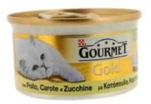ΚΟΝΣΕΡΒΑ ΓΑΤΑΣ GOURMET GOLD ΠΑΤΕ ADULT 85 GR ΜΕ ΚΟΤΟΠΟΥΛΟ ΚΑΙ ΚΑΡΟΤΟ