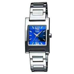 CASIO COLLECTION STAINLESS STEEL BRACELET BLUE DIAL LTP-1283D-2A2EF