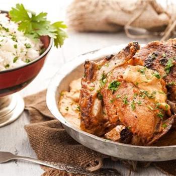 Ανατολίτικο κοτόπουλο με κρεμώδη σάλτσα