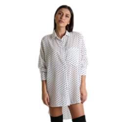 Πουά πουκάμισο με γιακά (Λευκό)