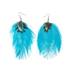 Σκουλαρίκια φτερά μπλέ