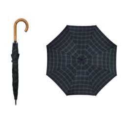 Pierre Cardin Αυτόματη Ομπρέλα Βροχής Long AC Carre με Καρό σχέδιο σε Πράσινο Μπλε σκούρο χρώμα, 10013869 - Pierre Cardin