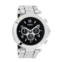 OOZOO - Γυναικείο δερμάτινο ρολόι OOZOO TIMEPIECES ασημί απόχρωση