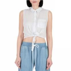 GUESS - Γυναικείο αμάνικο πουκάμισο GUESS εκρού