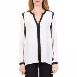 SILVIAN HEACH - Γυναικεία μακρυμάνικη μπλούζα ABANCAY SILVIAN HEACH ασπρόμαυρη