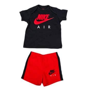 NIKE - Βρεφικό σετ Nike μαύρο-κόκκινο
