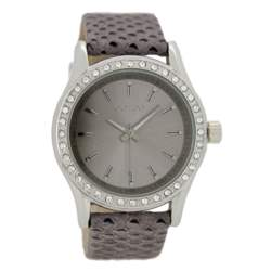 OOZOO - Γυναικείο δερμάτινο ρολόι OOZOO TIMEPIECES γκρι-καφέ
