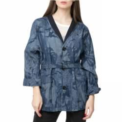 G-STAR RAW - Γυναικεία κοντή καπαρτίνα Rovic XL overcoat μπλε παραλλαγής