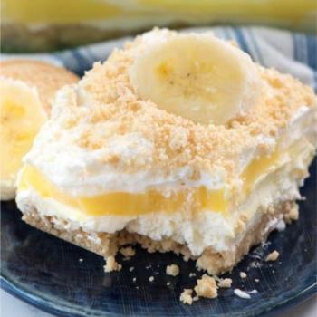 Ανάλαφρο, δροσερό γλυκό ψυγείου με άρωμα μπανάνας