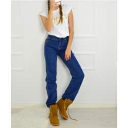 Γυναικείο τζιν ψηλόμεσο μπλε bootcut 100669