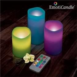Led κεριά με άρωμα βανίλιας με τηλεχειρισμό