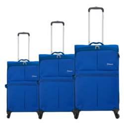 Σετ 3τμχ Βαλίτσες Τρόλεϊ Benzi BZ4895/3 Μπλε Electric