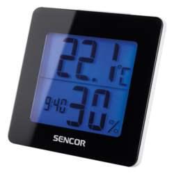 Θερμόμετρο-Ξυπνητήρι Sencor SWS 1500 B Μσύρο