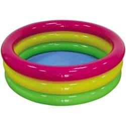 Χρωματιστή Φουσκωτή Πισίνα 3 Δαχτυλιδιών 114x38 cm 7-020521