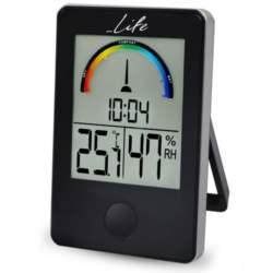 Ψηφιακό Θερμόμετρο-Υγρόμετρο Life WES-100 Μαύρο