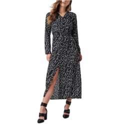 Rut & Circle μακρύ φόρεμα μαύρο με λευκό πουά - 1031-005371