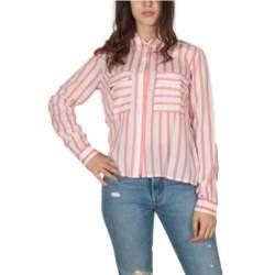 LTB Golibi ριγέ πουκάμισο λευκό-κόκκινο - 45200