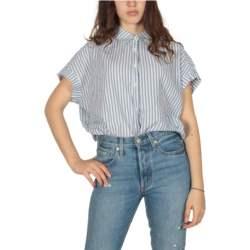 LTB Sopases ριγέ πουκάμισο λευκό-μπλε - 45180