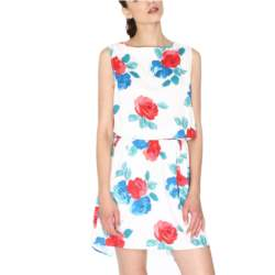 Pepaloves Anroniana mini φόρεμα ημίλευκο με πριντ - 108296