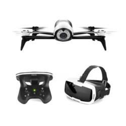 Parrot Bebop 2 Drone FPV Pack - Mini Drone με κάμερα, Χειριστήριο & CockpitGlasses Λευκό